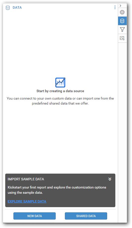 Explore sample data option