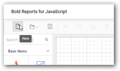 Create new report option