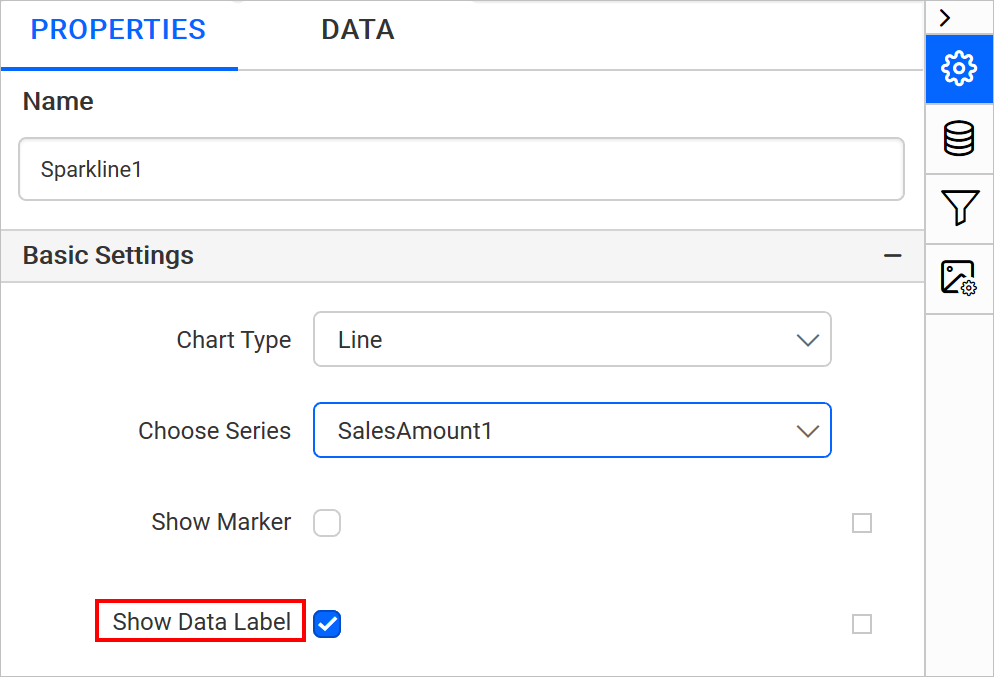 Enable data label property