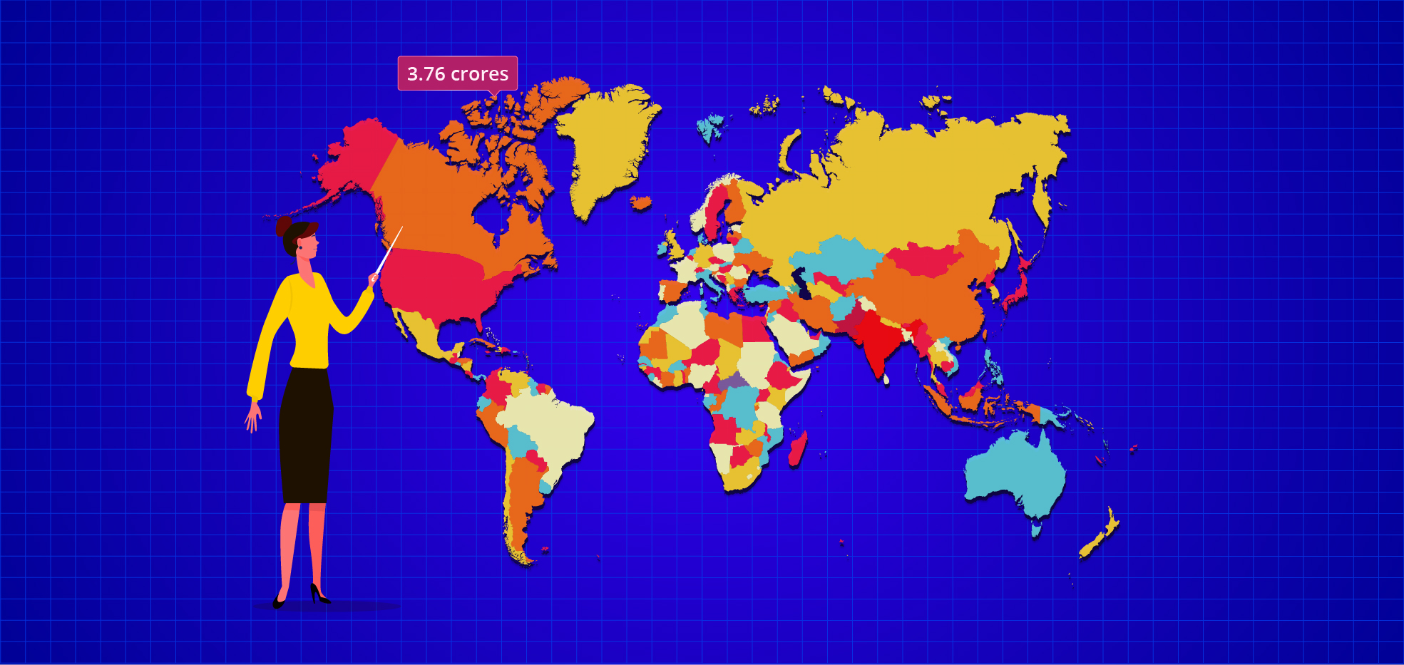 Create a World Population Report Using a Map