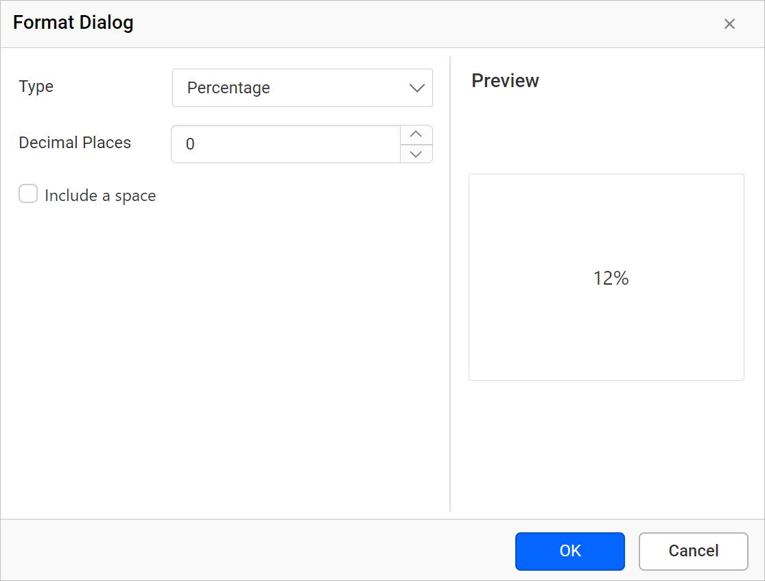 Percentage Formatting