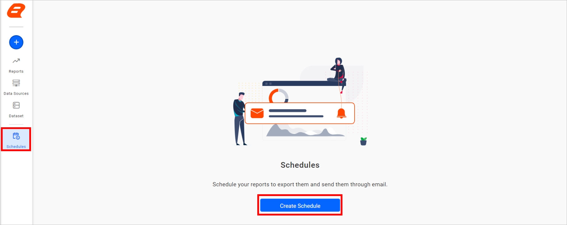 Create schedule from the sidebar.