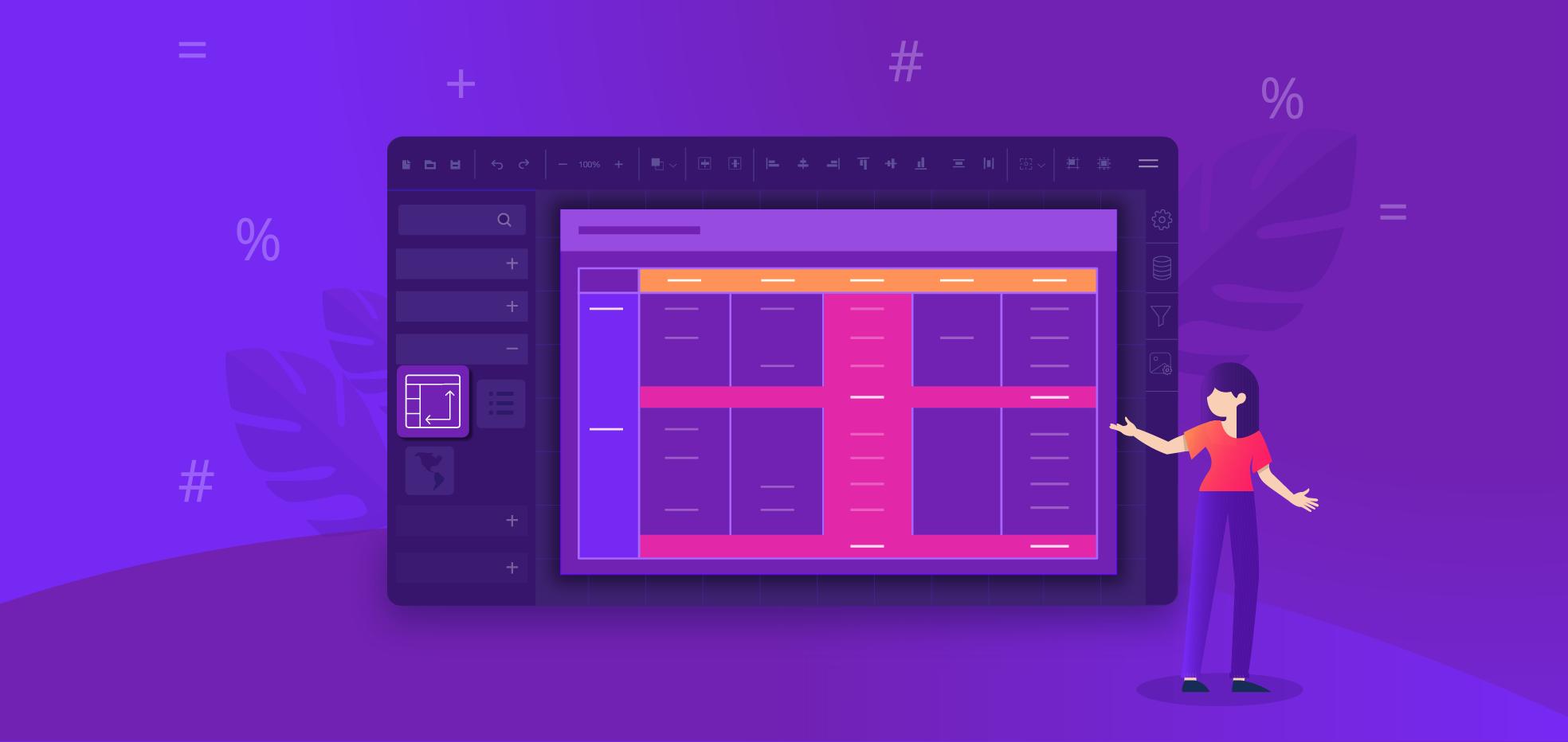Create a Matrix Report Using Bold Reports Designer