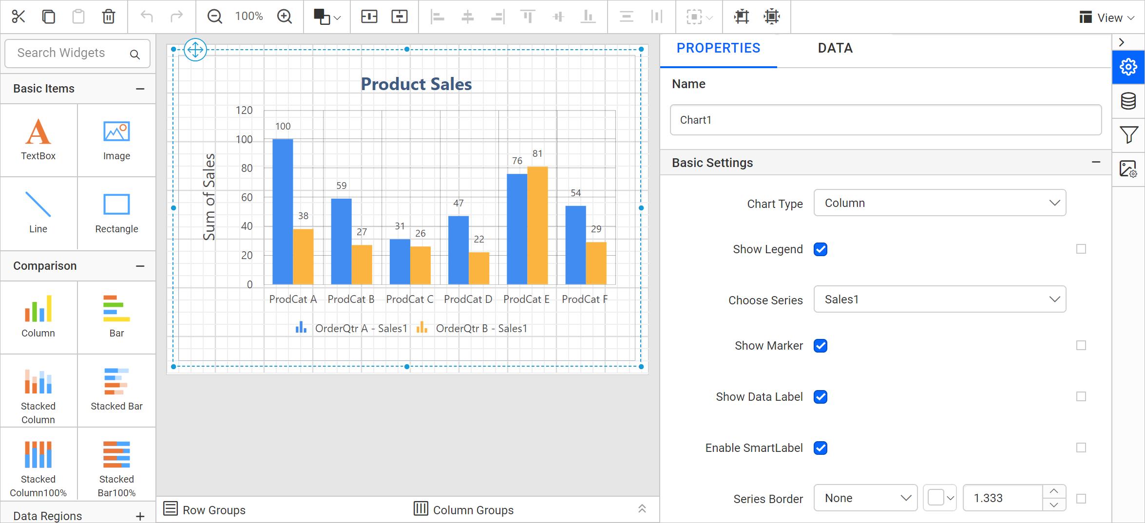 Final chart report design