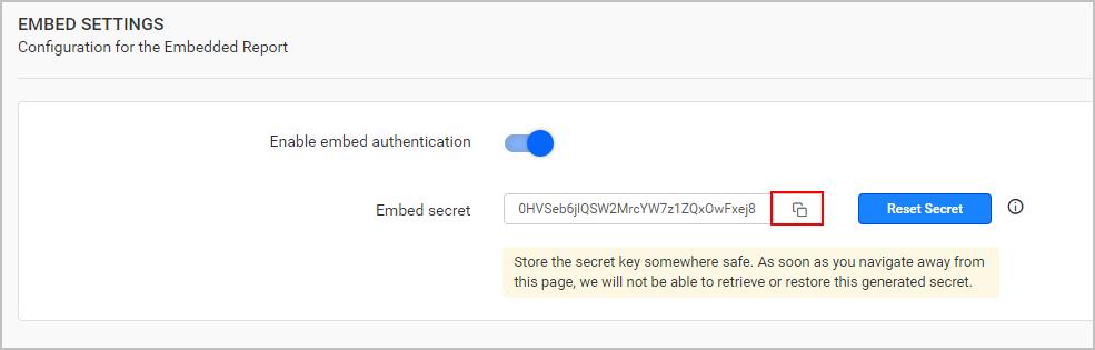 Save Secret Key