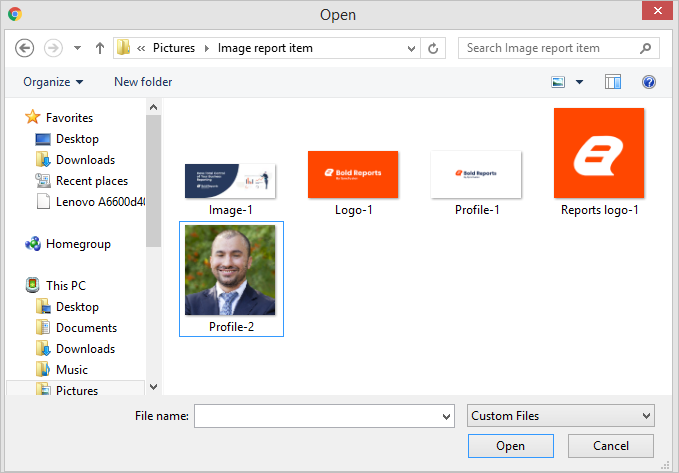 Add images to an ssrs report