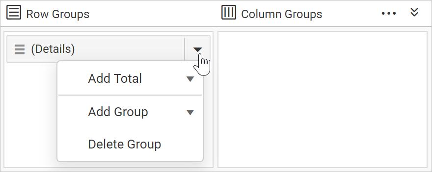 Open grouping menu
