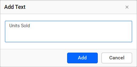 Add text dialog