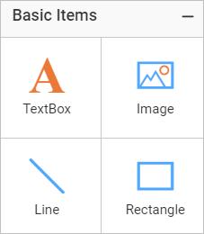 Basic report items