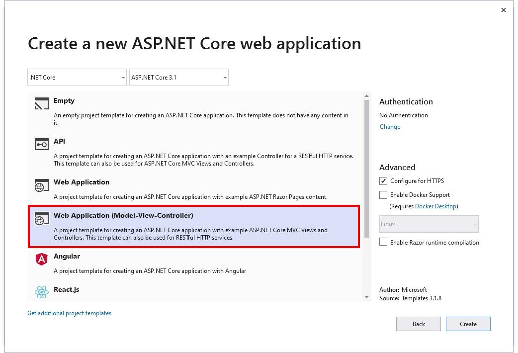 ASP.NET CORE MVC Application