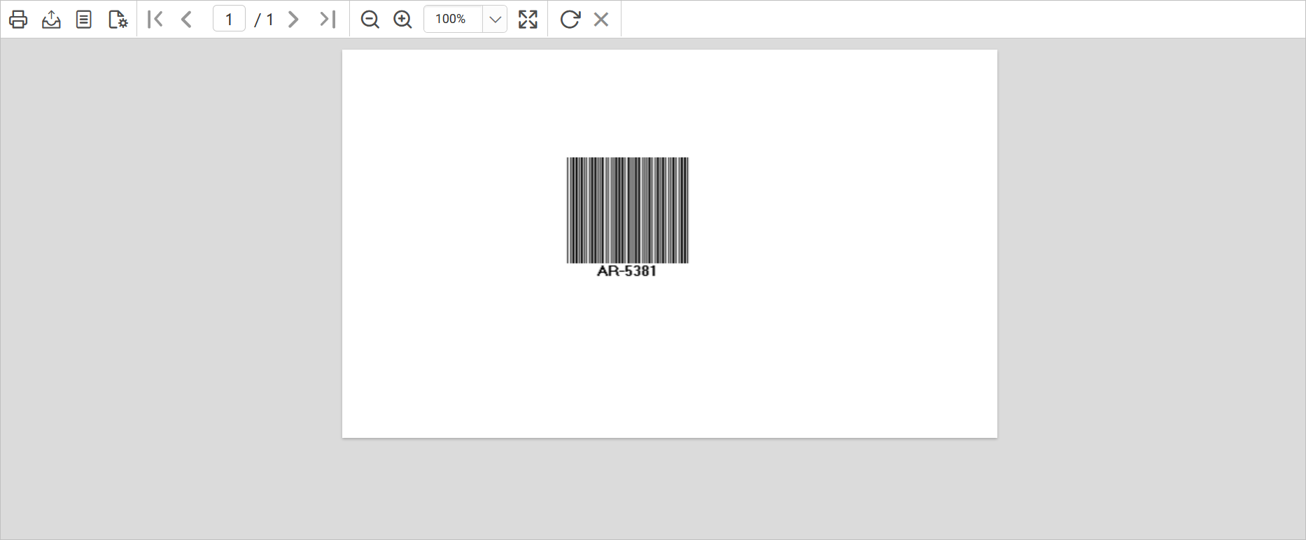 1D Barcode in preview
