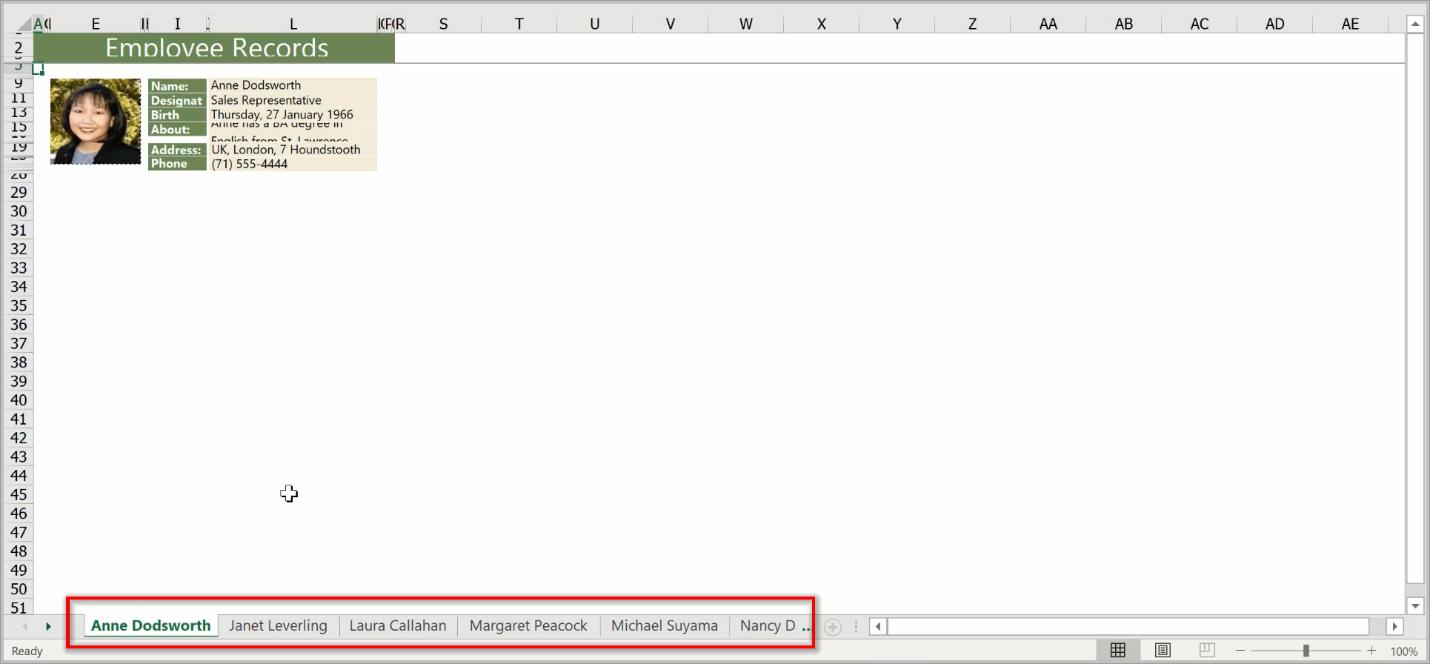 Custom Page Names in Worksheet