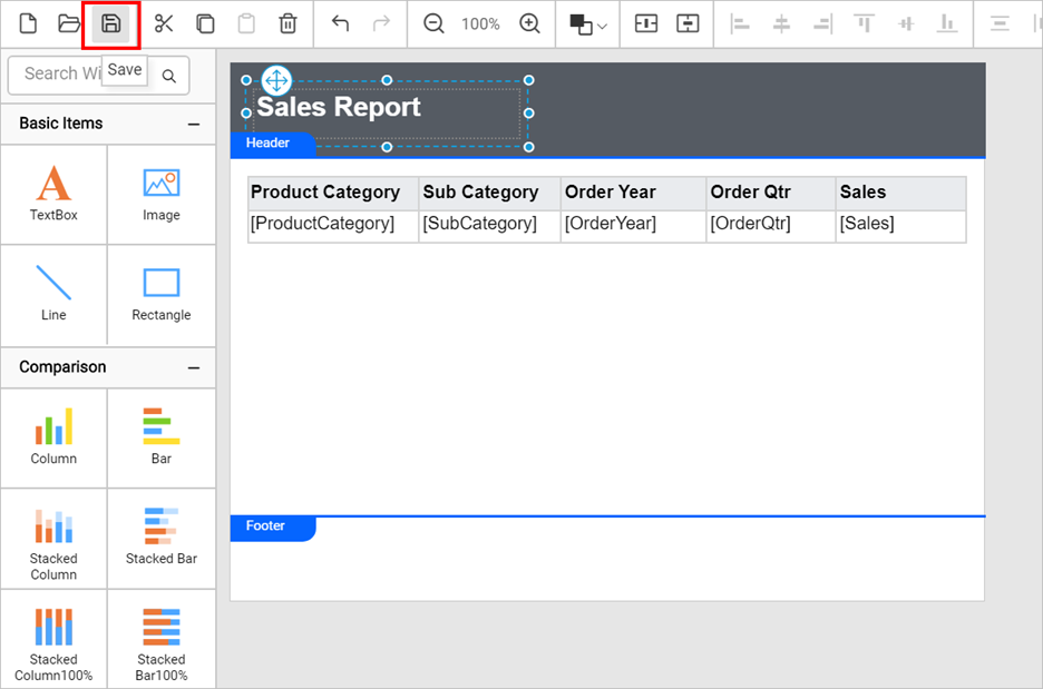 Save report to local path