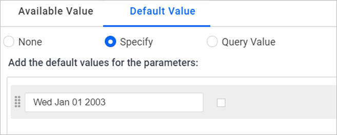 Specifying a static value