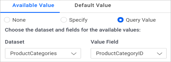 Assigning a value from dataset